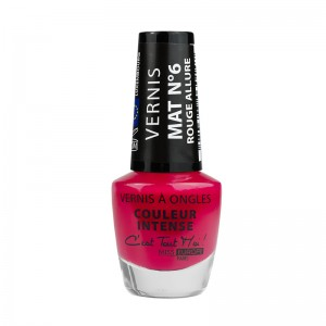 vernis intense mat rouge allure
