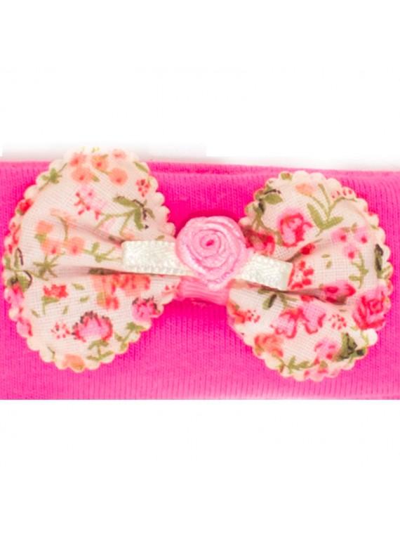 bandeau noeud rose miss princesse