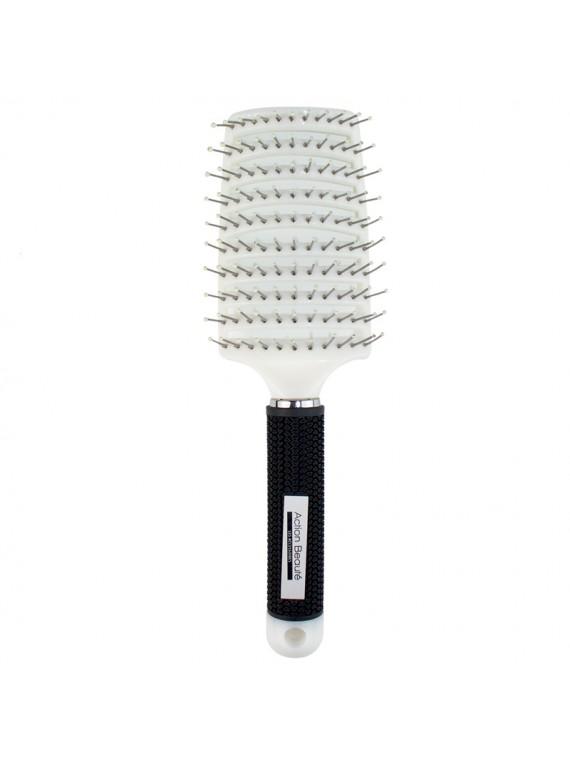 brosse cheveux incurvée action beauté