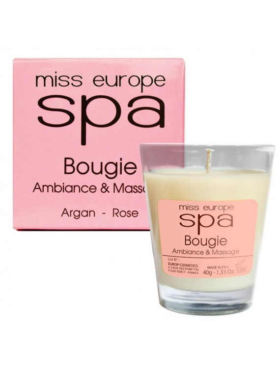 bougie massage argan rose spa